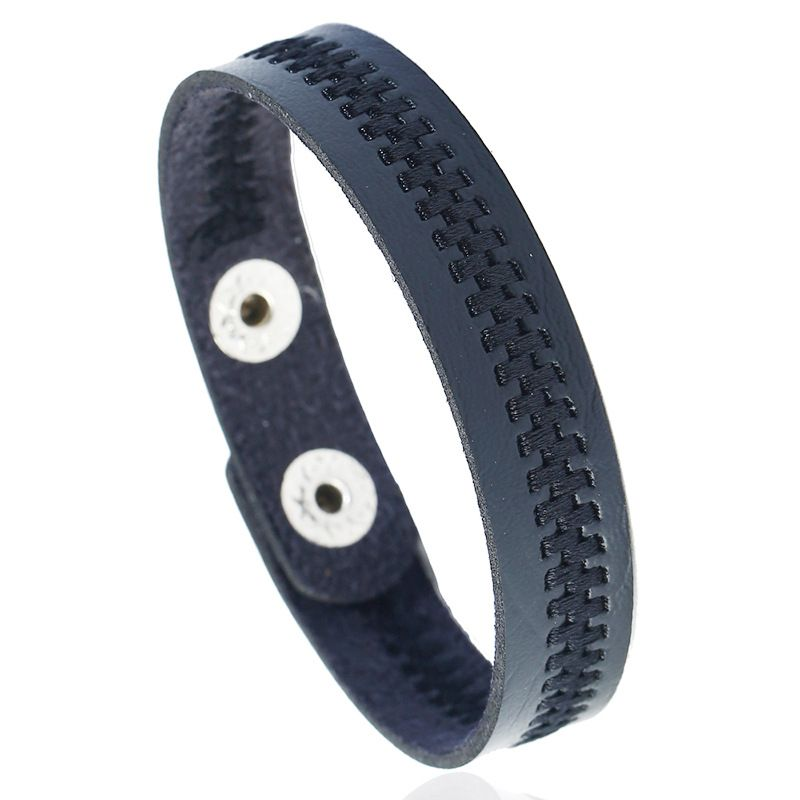 Leather Fashion Geometric bracelet  (black) NHPK2187-black