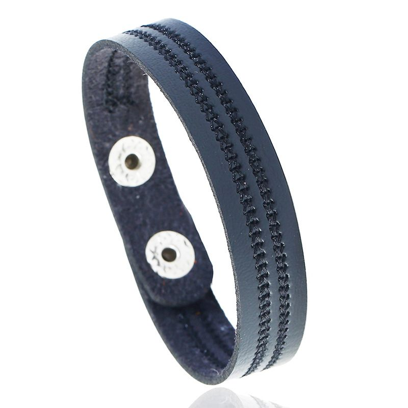 Leather Fashion Geometric bracelet  (black) NHPK2188-black