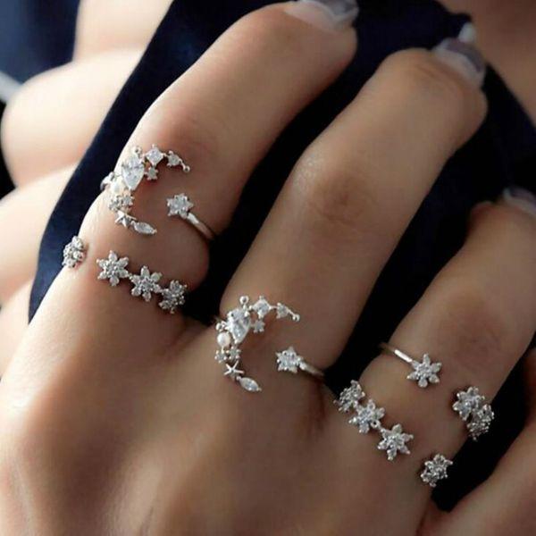 Alloy Fashion Flowers Ring  (Alloy) NHNZ1055-Alloy