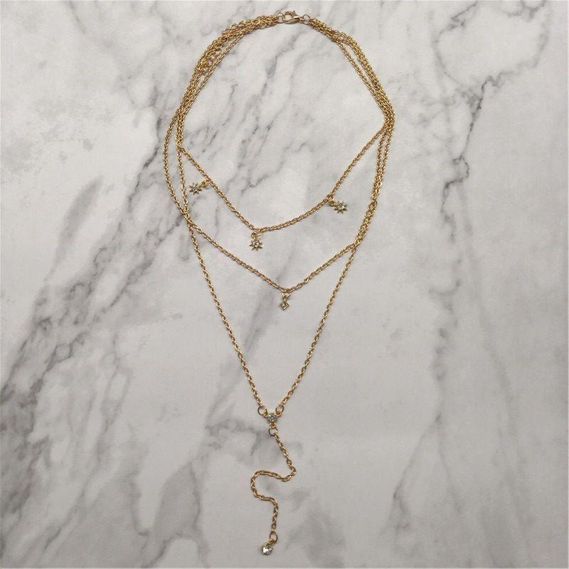 Alloy Fashion Geometric necklace  (Alloy) NHNZ1063-Alloy