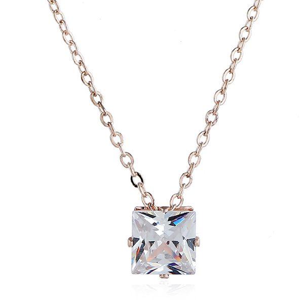 Alloy Korea Geometric necklace  (Rose alloy) NHNZ1071-Rose-alloy