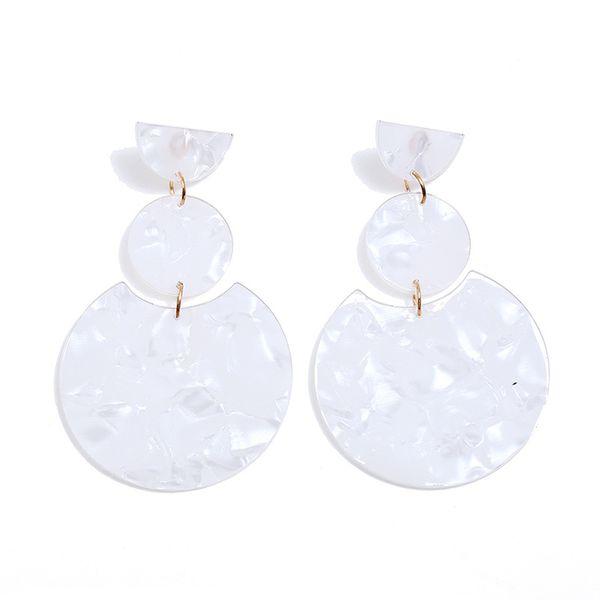 Alloy Fashion Geometric earring  (white) NHNZ1075-white
