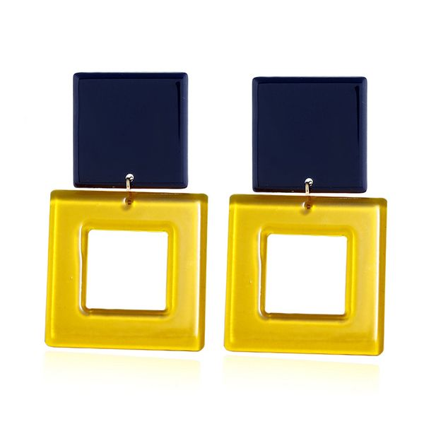 Acrylic Fashion Geometric earring  (yellow) NHNZ1077-yellow