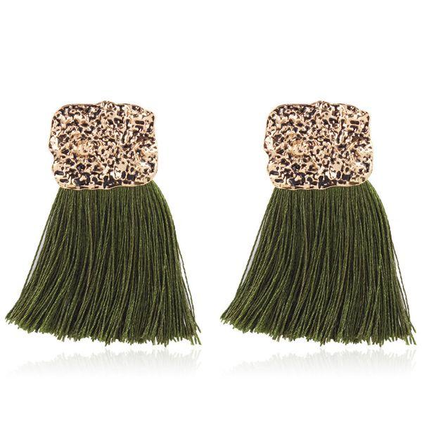 Alloy Fashion Tassel earring  (green) NHNMD5005-green