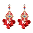 Alloy Fashion Tassel earring  red NHJJ5327red