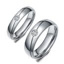 TitaniumStainless Steel Simple  Ring  6MM6 NHIM14556MM6