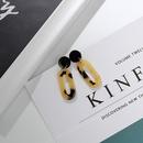 Imitated crystalCZ Fashion Geometric earring  Leopard print NHIM1463Leopardprint