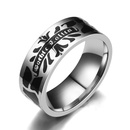 TitaniumStainless Steel Fashion  Ring  Steel color7 NHIM1487Steelcolor7