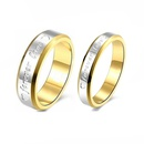 TitaniumStainless Steel Simple  Ring  4mm wide6 NHIM14894mmwide6