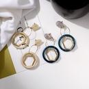 Imitated crystalCZ Fashion Geometric earring  Beige NHIM1490Beige