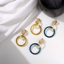 Imitated crystalCZ Fashion Geometric earring  amber NHIM1496amber