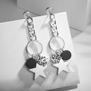 Alloy Korea Geometric earring  White alloy NHLJ4191Whitealloy