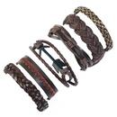 Leather Fashion Geometric bracelet  Sixpiece set NHPK2177Sixpieceset