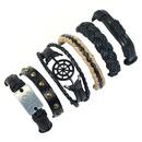 Leather Fashion Geometric bracelet  Sixpiece set NHPK2179Sixpieceset