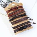 Leather Fashion Geometric bracelet  Sixpiece set NHPK2182Sixpieceset