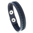 Leather Fashion Geometric bracelet  black NHPK2183black
