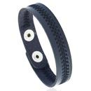 Leather Fashion Geometric bracelet  black NHPK2187black