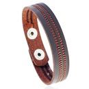 Leather Fashion Geometric bracelet  black NHPK2188black