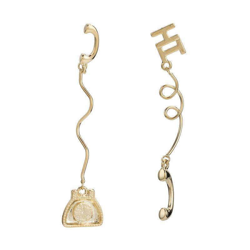 Copper Korea Geometric earring  (Alloy) NHYT1342-Alloy