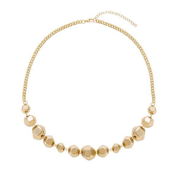 Alloy Fashion Geometric necklace  (Alloy) NHYT1346-Alloy