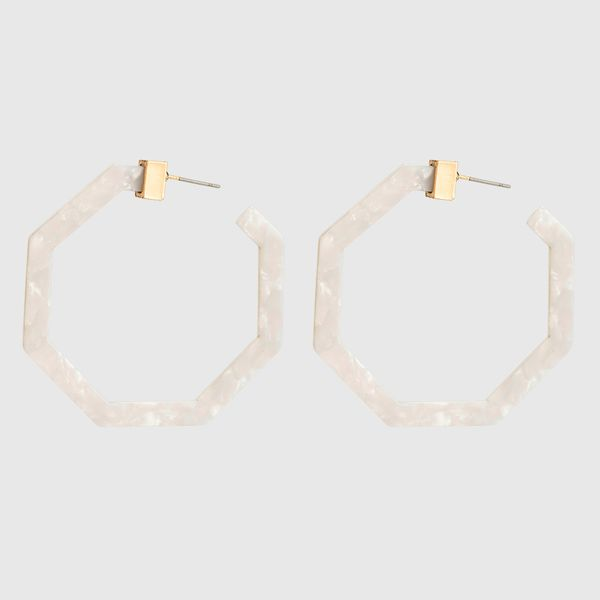 Acrylic Fashion Geometric earring  (white) NHYT1347-white