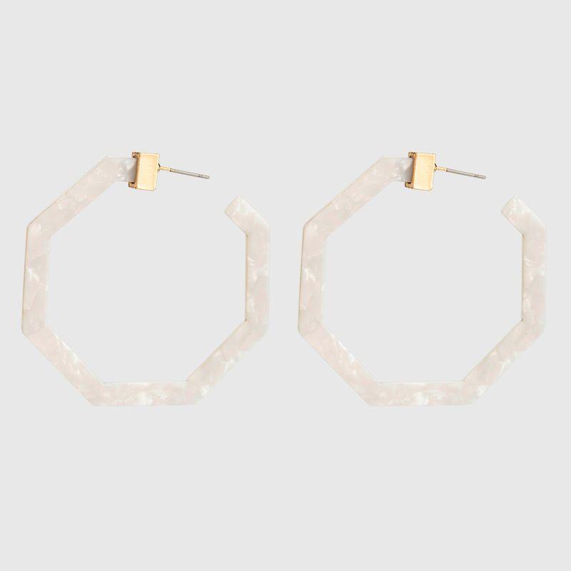 Acrylic Fashion Geometric earring  (white) NHYT1347-white