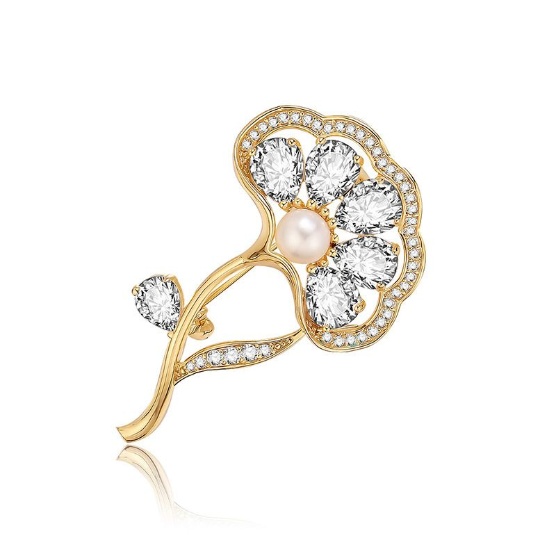 Alloy Fashion Flowers brooch  61187211 NHXS208161187211