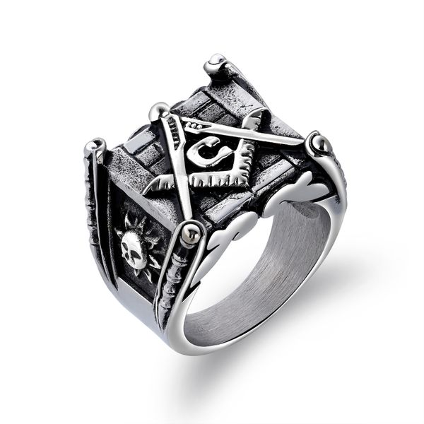 Titanium&Stainless Steel Fashion Geometric Ring  (Steel color No.-7) NHOP3079-Steel-color-No-7