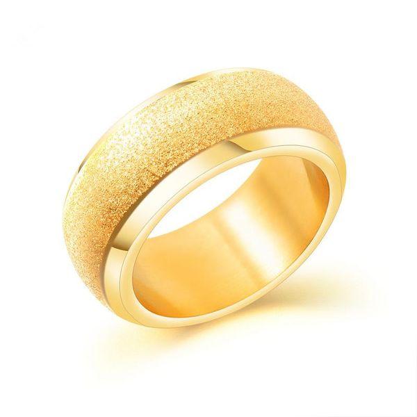 Titanium&Stainless Steel Fashion Geometric Ring  (US No. 7) NHOP3084-US-No-7