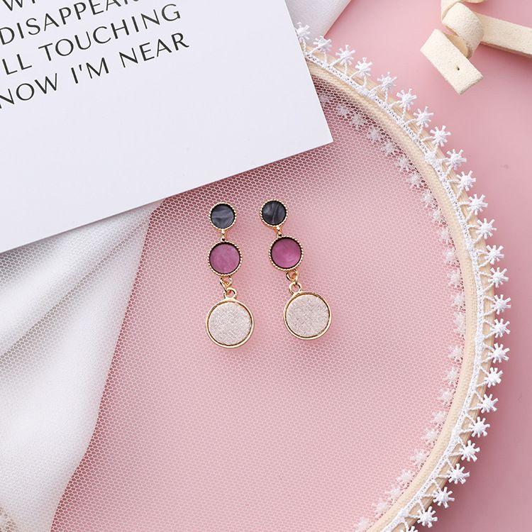 Alloy Korea Geometric earring  (A beige) NHMS1774-A-beige