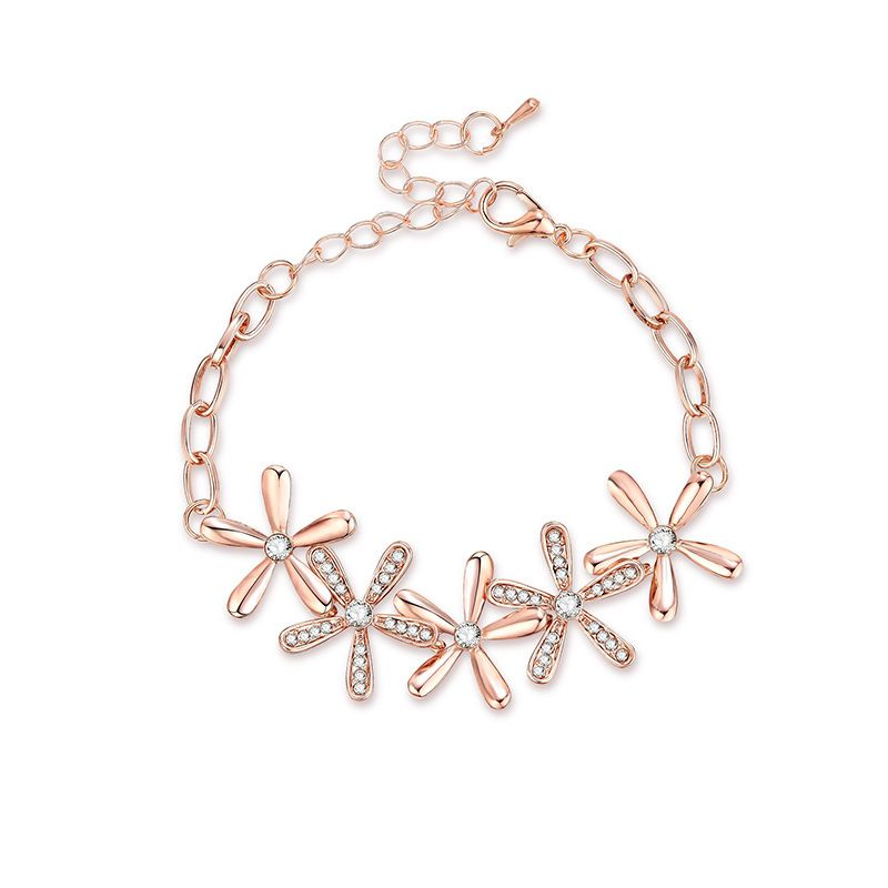 Alloy Fashion Flowers bracelet  61186371 NHXS211561186371