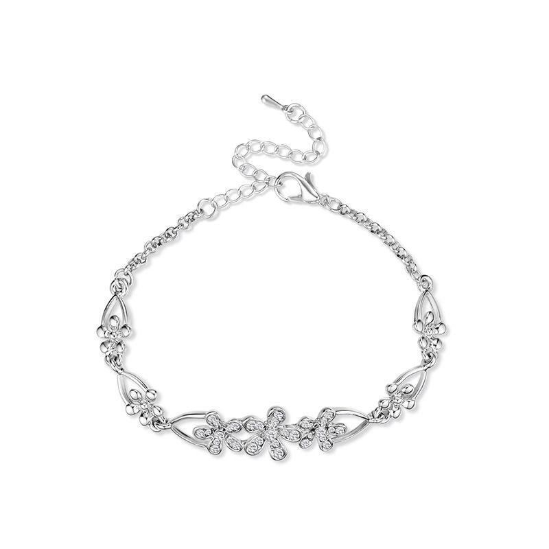 Alloy Korea Flowers bracelet  (61186379) NHXS2117-61186379