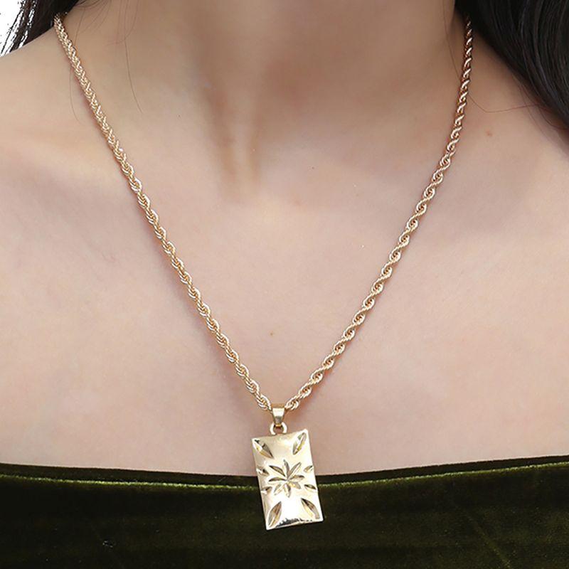 Alloy Vintage Geometric necklace  (Alloy 2131) NHXR2646-Alloy-2131