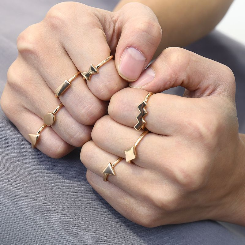 Alloy Simple Geometric Ring  (Alloy 0214) NHXR2647-Alloy-0214