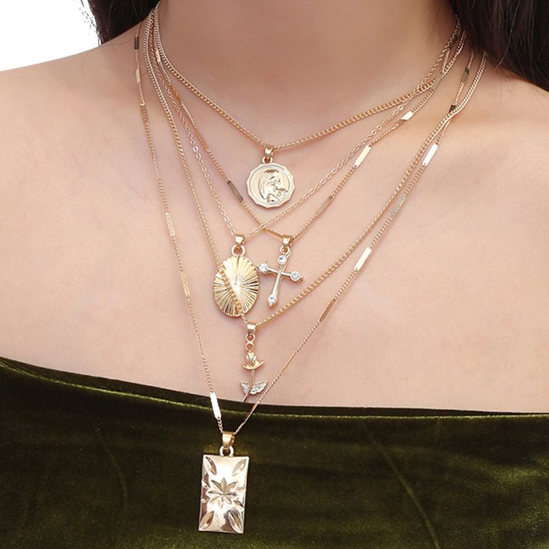 Alloy Simple Flowers necklace  (Alloy 2158) NHXR2648-Alloy-2158