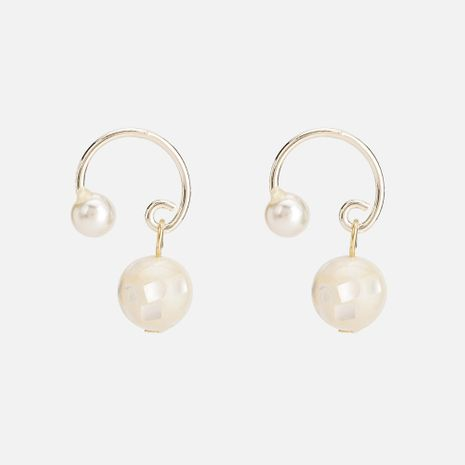 Beads Simple Geometric earring  (white) NHYT1352-white's discount tags