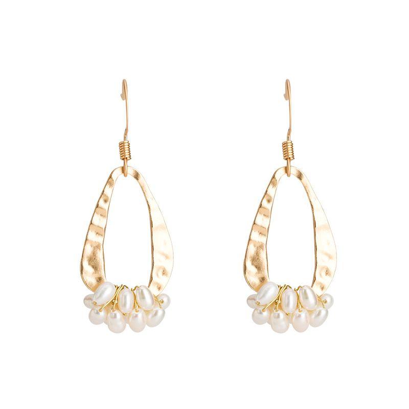 Copper Simple Geometric earring  (Alloy) NHYT1353-Alloy