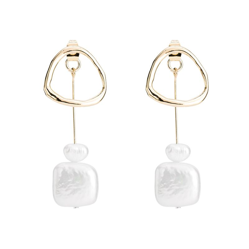 Beads Simple Geometric earring  (Alloy) NHYT1354-Alloy