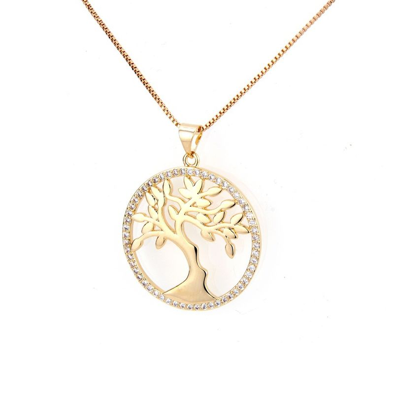 Copper Fashion Tree necklace  (Alloy) NHBP0323-Alloy-plated