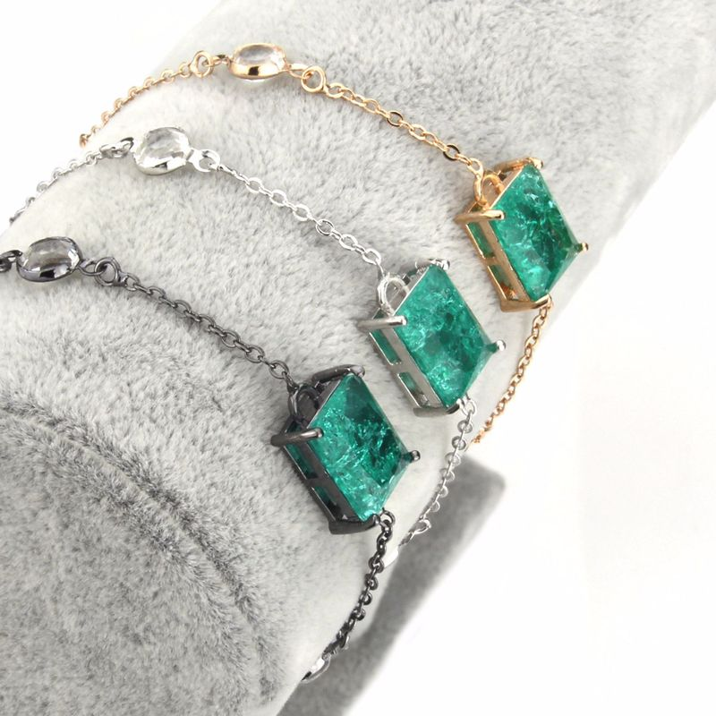 Copper Simple Geometric bracelet  (Alloy plating) NHBP0326-Alloy-plating