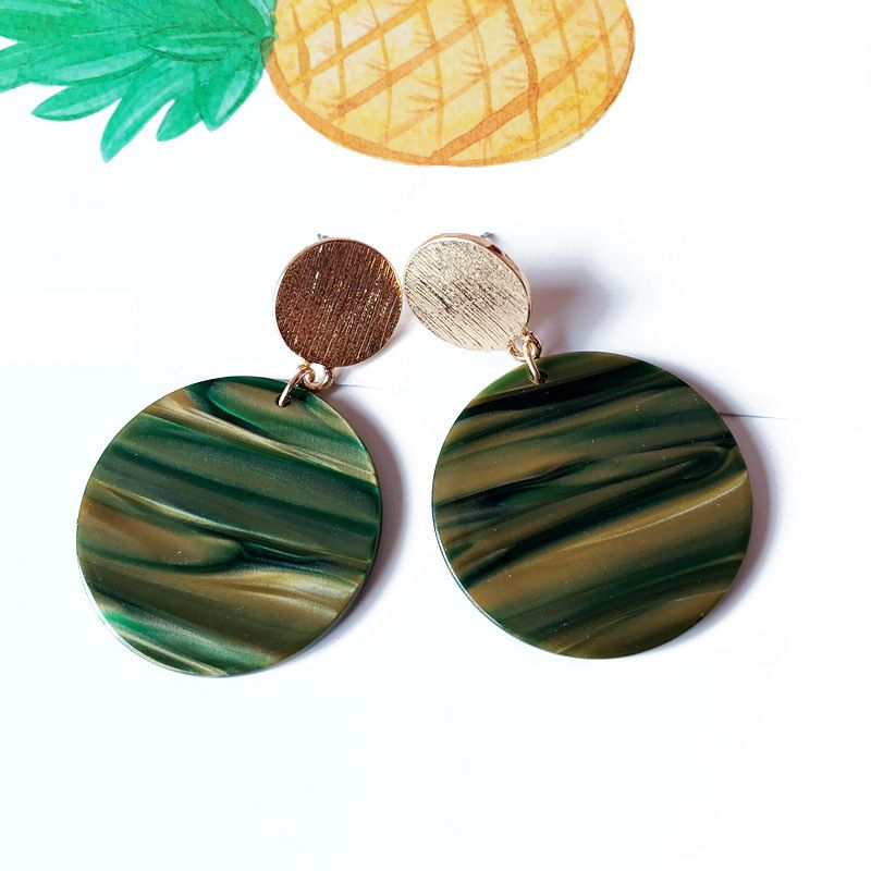 Alloy Fashion  earring  (green) NHOM1096-green