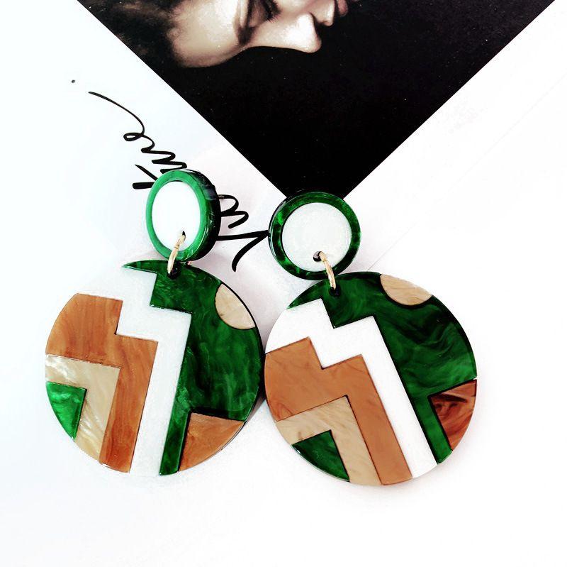Alloy Fashion  earring  (green) NHOM1098-green