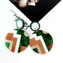 Alloy Fashion  earring  green NHOM1098green
