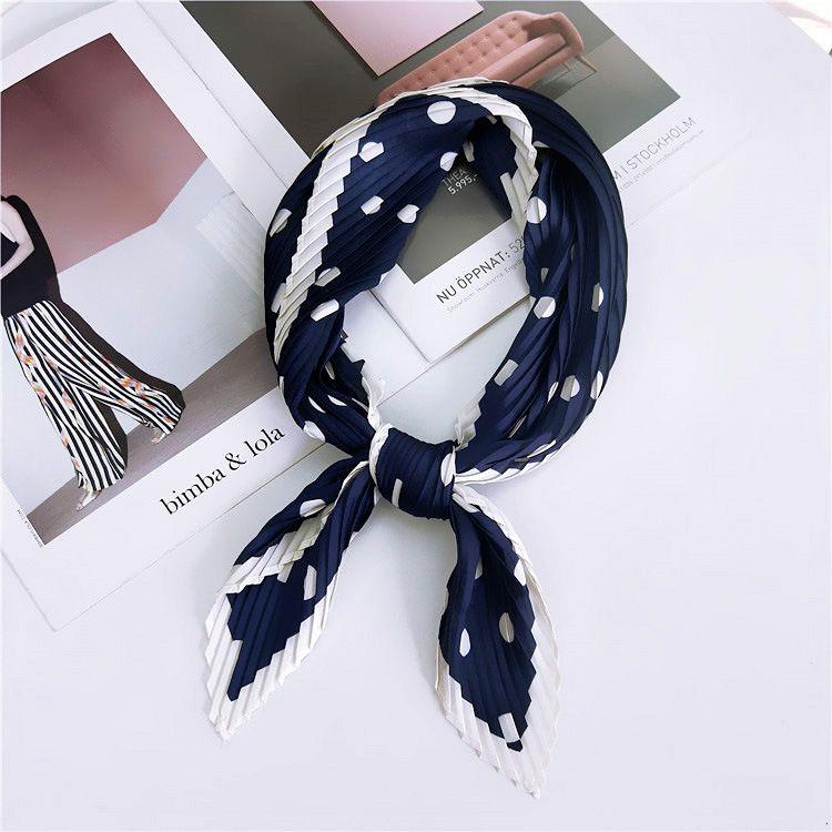 Alloy Korea  scarf  (1 wave point navy -70cm) NHMN0308-1-wave-point-navy-70cm