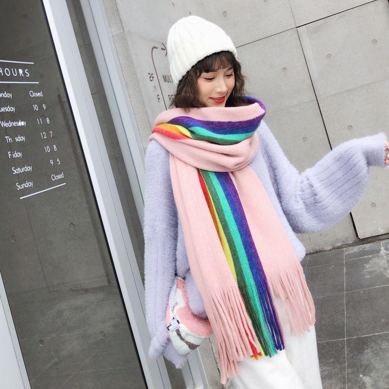 Cloth Korea  scarf  Pink NHCM1707Pink