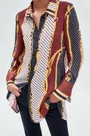 Chiffon Fashion  shirt  Picture color  M NHAM7021PicturecolorM