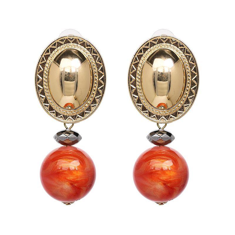 Alloy Fashion Geometric earring  (red) NHJJ5258-red