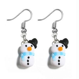 Imitated crystal&CZ Fashion Cartoon earring  (white) NHGY2687-white's discount tags
