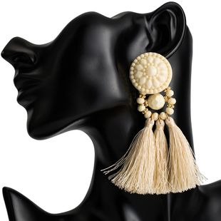 Alloy Fashion Tassel earring  (white) NHJE2077-white's discount tags