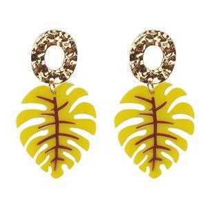 Plastic Fashion Geometric earring  (yellow) NHJQ10859-yellow's discount tags